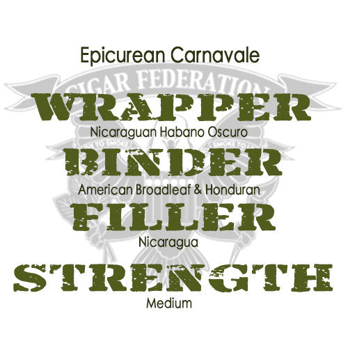 Carnavale by Epicurean Cigars with Habano Oscuro wrapper