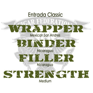 Entrada Classic with Mexican San Andreas wrapper