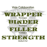 Viaje Collaboration Nicaraguan Wrapper Nica Binder filler