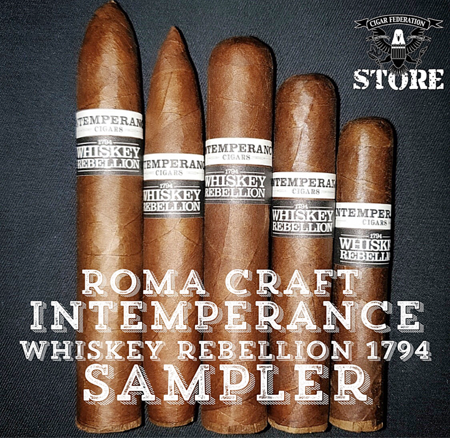 RoMa Craft Intemperance Whiskey Rebellion 1794 Sampler