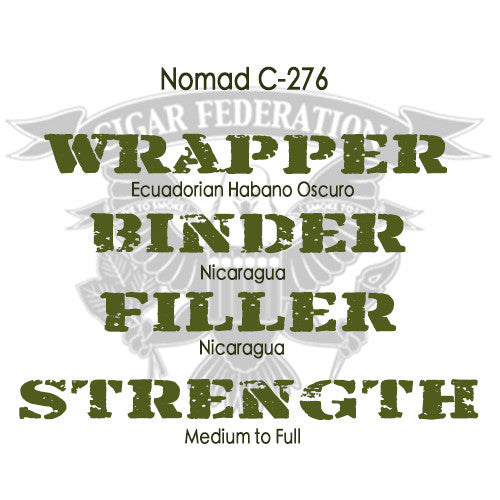 Nomad C-276 with Ecuadorian Habano Oscuro wrapper