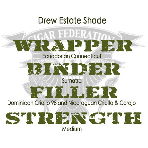 Drew Estate Undercrown Shade Full WBFS