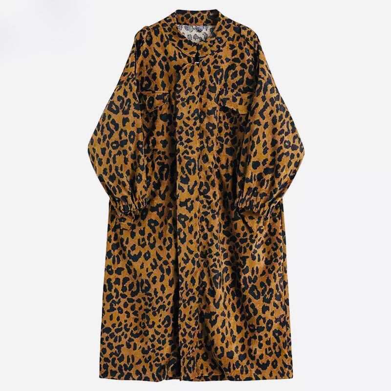 Leopard Oversized Trench.