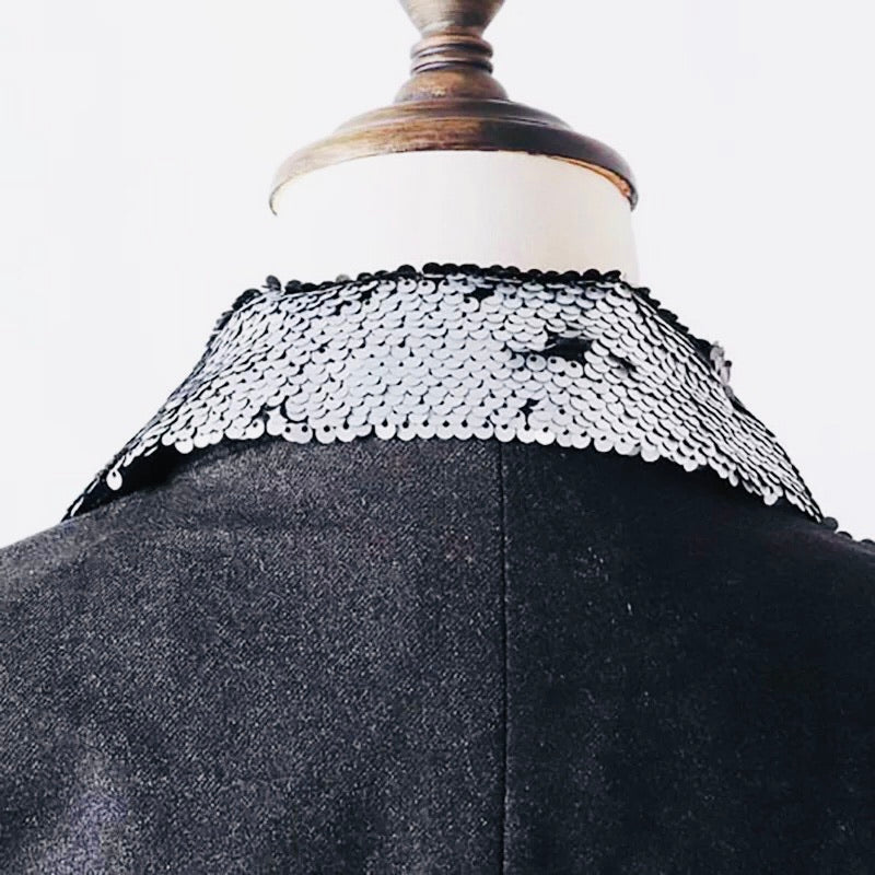Half Side Sequined Coat
