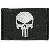 "Fixxxer Tactical Skull, Black - Tactical Patch, Velcro Hook backing 2"" x 3"""