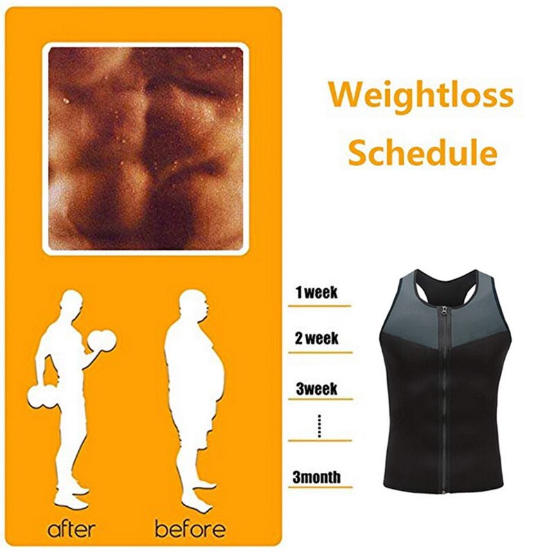 Weight Loss Trainer Vest with Zipper