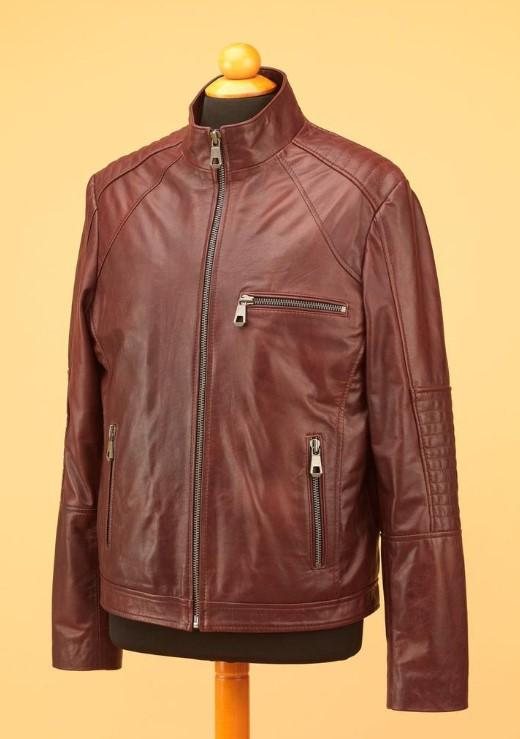 All Saint's Brown men leather jacket