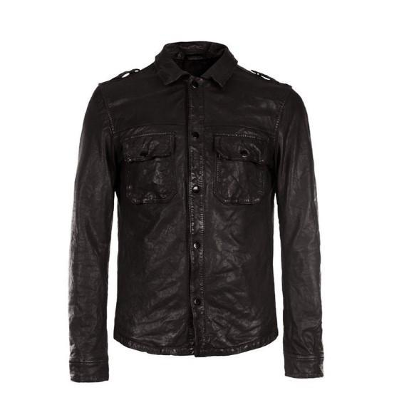 Slim Fit Leather Shirt Real Sheep Skin