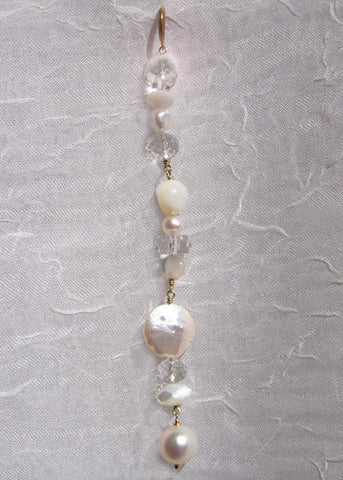 Full ArcticMoon Snowball Icicle (mother of pearl/pearl/white topaz)