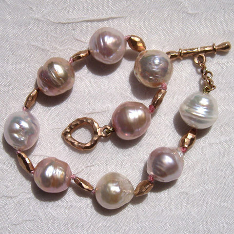 Kasumiga Pearl DiamondBall Bracelet