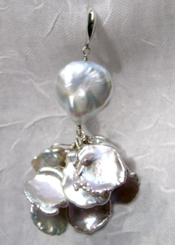 Baroque Pearl Snowflake Cascade Earring(14kw)