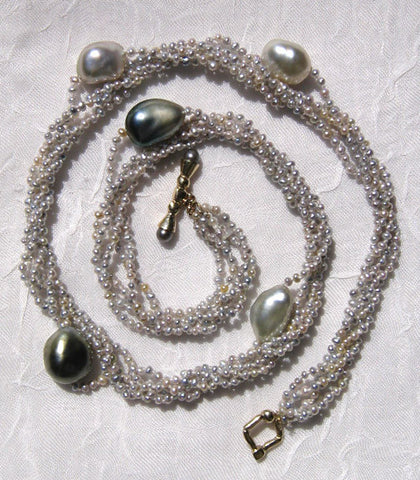 5 Strand KeshiPearl Atoll Necklace