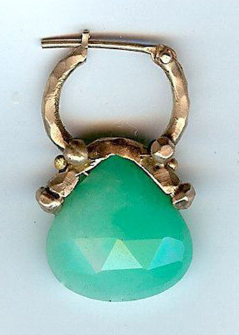 Chrysoprase Purse Hoop