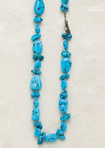 Turquoise Tumbled RiverRock Necklace(24\\)""