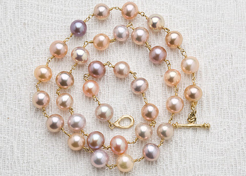 Rapt Natural Pastel RainbowPearl Necklace