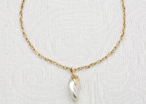 Large Southsea KeshiPearl LeafCap CountessChain