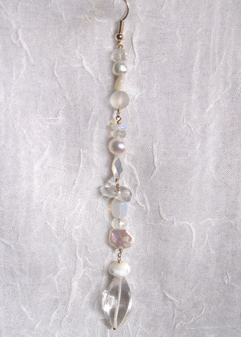 ArcticMoon Long Complex Twisted Icicle (crystal/moonstone/mother of pearl/opal/pearl)