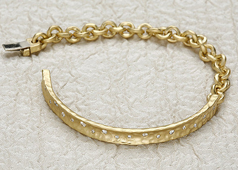 DiamondWadi AnchorChain Bracelet(.36ctw)(18k)