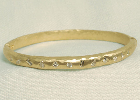 DiamondMosaic Bangle(1 ctw)(18k)