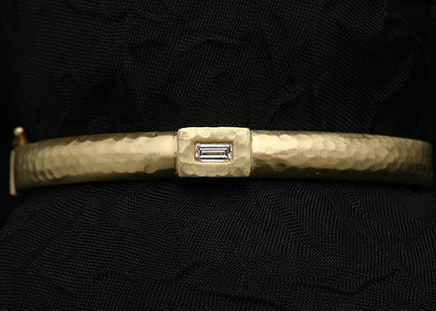 Ella IngotDiamond Bangle(.25ctw)(18k)