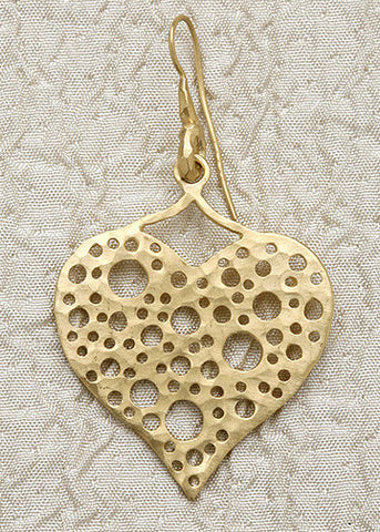 HammerwireLoop Larger Holy Heart Earring(18k)