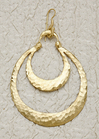 Frida Double Crescent Earring(18k)