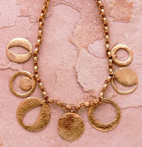 Mayan Solstice MultiDisc Necklace(18k)