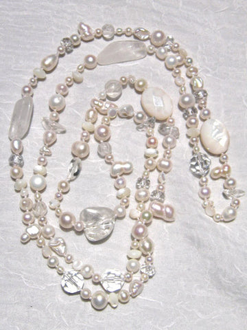 "Arcticicle 42"" Archipelago (crystal/mother of pearl/pearl) (OneofaKind)"