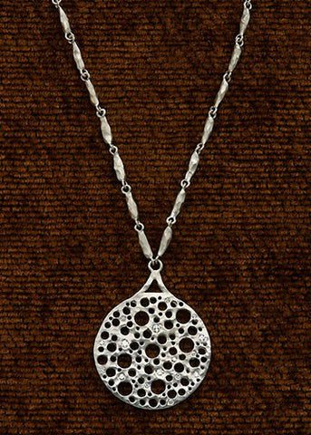 Carrot Chain Necklace/Diamond Holy Disc Pendant(.25ctw)(18kw)