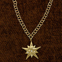 RainChain Necklace/DiamondStar Pendant(.15cttw)
