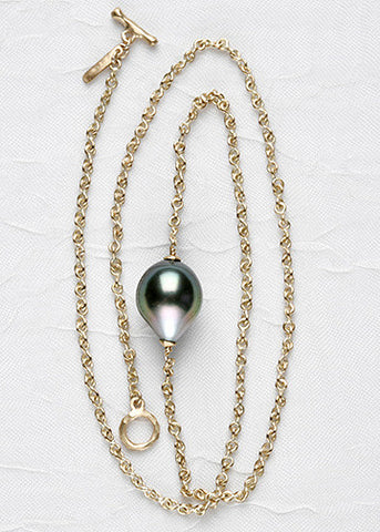 Tahitian Pearl InfinityChain Necklace(18k)