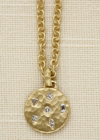 DiamondMosaic BabyDisc Anchorchain(.52ctw)(18k)