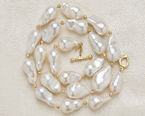Baroque GeishaPearl GoldBall Conjunction(18k) (OneofaKind)