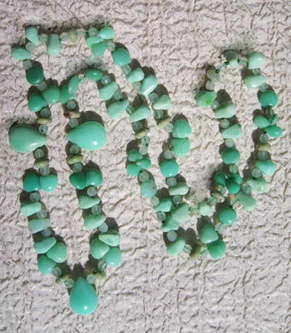 "Chrysoprase 24"" Meander Necklace"