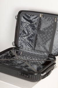Fully Lined Fashion Travel Case - Black