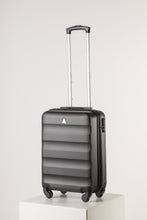 Load image into Gallery viewer, Hard Shell Carry On Luggage Black Runway Suitcase Milan Range