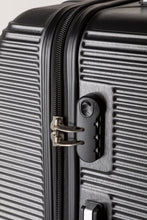 Load image into Gallery viewer, Black Lightweight Suitcase With Combination Lock