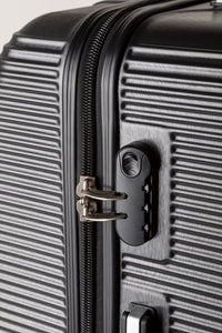 Secure Locking Suitcase, Lightweight Black