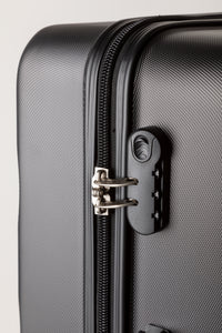 Secure Combination Locking Family Suitcase - Black