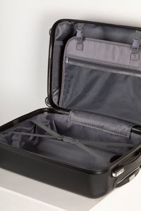 Fully Lined Cabin Sized Suitcase Black