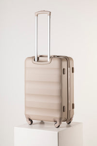 Large Hard Shell Suitcase - Champagne