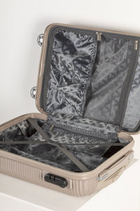 Fully Lined Fashion Travel Case - Champagne