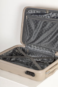 Lightweight Hard Shell Carry on Suitcase - Champagne
