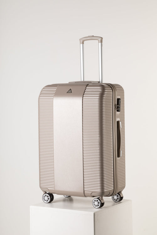 Large Lightweight Suitcase With Secure Lock Champagne Pink