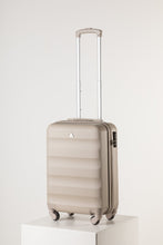 Load image into Gallery viewer, Hard Shell Carry On Luggage Champagne Pink Runway Suitcase Milan Range