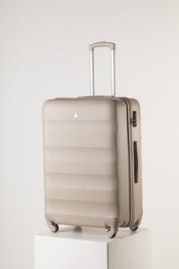 Extra Large Family Sized Luggage Champagne Pink