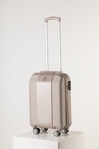 Lightweight Cabin Suitcase - Florence Fashion Design Champagne Pink