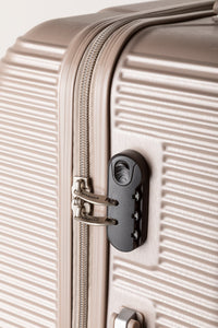 Secure Locking Suitcase, Lightweight Champagne