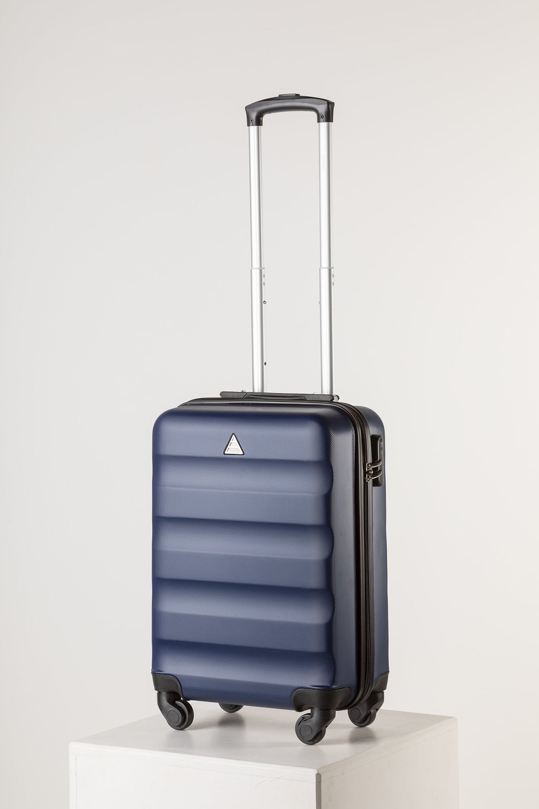 Hard Shell Carry On Luggage Navy Runway Suitcase Milan Range