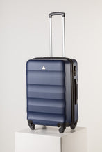 Load image into Gallery viewer, Large Hardshell Suitcase Navy Blue